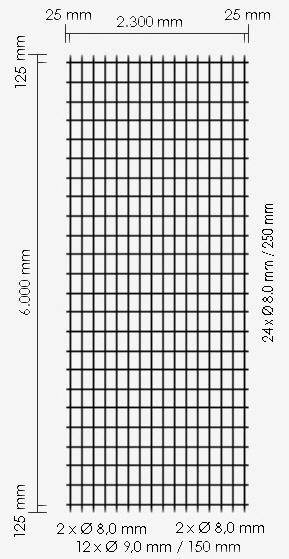 Betonstahl-Lagermatte R424A